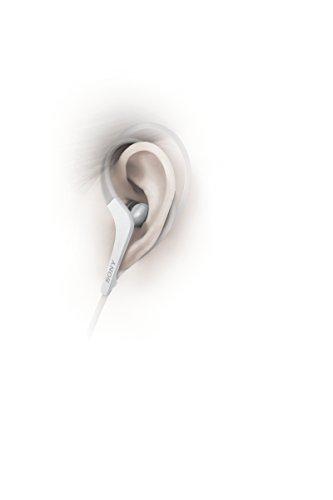Sony MDR-AS410AP Sport-Kopfhörer (Spritzwassergeschützt, integriertes Mikrofon, Freisprecheinrichtung) weiß