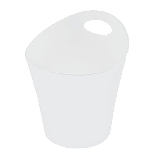 koziol Utensilo 3 L Pottichelli L, Kunststoff, solid weiß, 21 x 19 x 23 cm