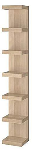 Lack IKEA - Estantería de pared con efecto de roble teñido de color blanco (aspecto de madera, 30,5 x 190,5 cm)
