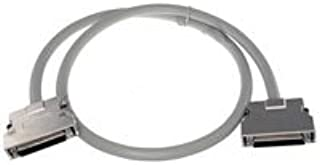 6ft Grey SCSI4 Cable VHDCI 0.8mm Male to High Pitch DB68 Male Offset