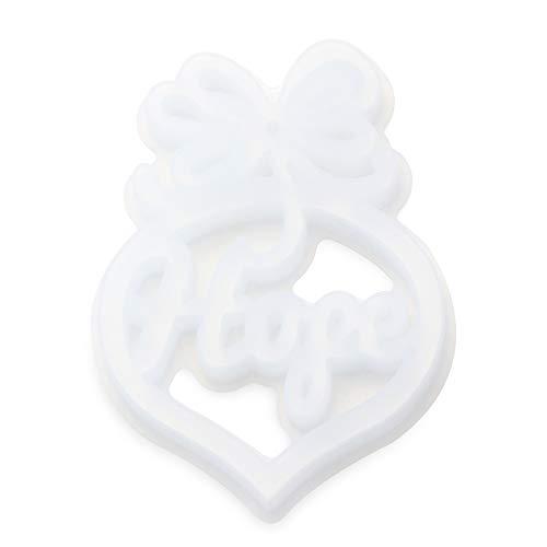 SunflowerU Schmuckherstellungswerkzeug, transparente Hoffnung, Schlüsselanhänger, Halskette, Kunstharz, Silikonform, Anhänger, Kristall, Epoxidharz, Form für Buchstaben, Hoffnung