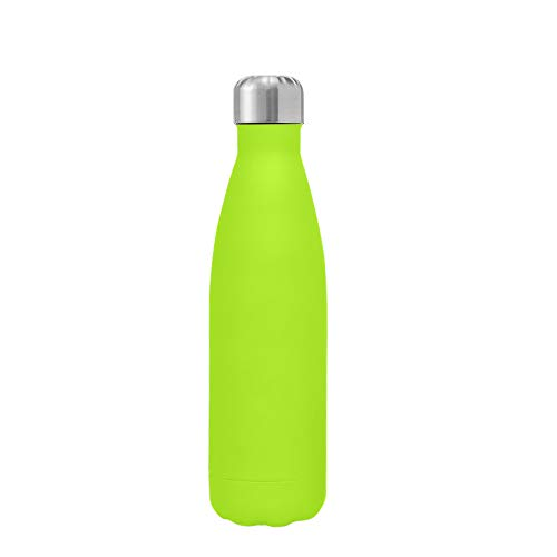 Kuayds Trinkflasche Doppelwandig Vakuum Isolierte Edelstahl Wasserflasche 500 ml Auslaufsichere Ultradünne Tragbare Sportflasche Geeignet für Outdoor Sport Reisen Camping