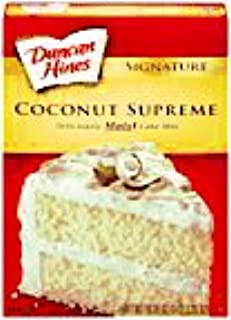 Duncan Hines SIgnature Deliciously Moist Coconut Supreme Cake Mix, 16.5 oz (3 Pack)