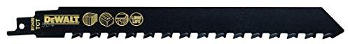 DeWalt DT2420-QZ - Hoja de sierra sable bi-metal, longitud: 240mm, paso de diente: 12.7mm, hoja de carburo de tungsteno para corte de hormigón celular, ladrillo rojo y fibrocemento hasta 150mm