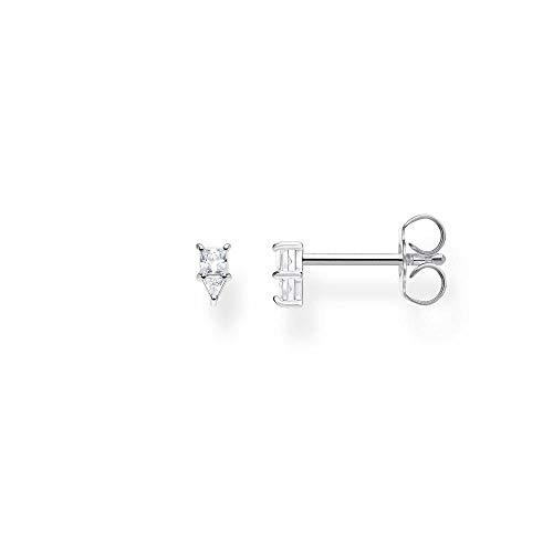 Thomas Sabo Women's Single Stud Earrings Triangle 925 Sterling Silver