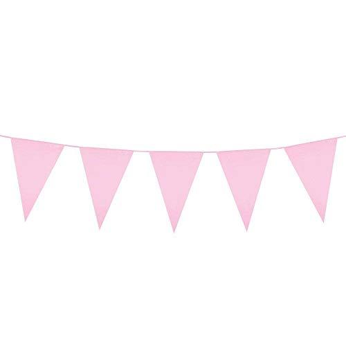 Boland 74757- Guirnalda de banderines de color rosa