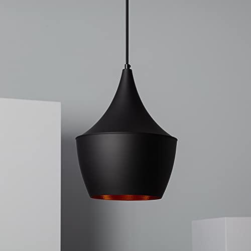 LEDKIA LIGHTING Lampada a Sospensione Mercury 200x1675 mm Nero E27 Alluminio per Sale, Soggiorno, Cucina, Camera