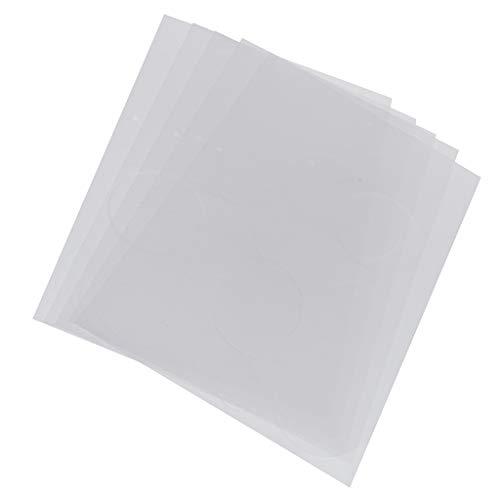 Hellery 5 Piezas de Papeles Encogibles en Blanco, Plástico Termoencogible, Papel de Impresión Encogible para Hacer Amuletos, Llaveros, Adornos, Joyería - Corazón del círculo, tal como se describe