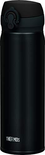 THERMOS Thermosflasche Edelstahl Ultralight, schwarz 500ml, Isolierflasche extrem leicht 210g Trinkflasche 4035.232.050 spülmaschinenfest, Thermoskanne hält 10 Stunden heiß, 20 Stunden kalt, BPA-Free