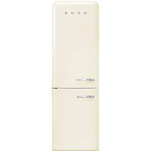 Smeg FAB32LCR3 - Frigorifero Combinato Anni  50, Panna, 331 Lt, 60 cm, Cerniere a Sinistra, A+++