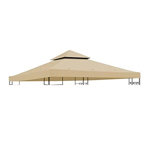 LKOPYUo Cubierta superior de gazebo de jardín de 10 pies, techo de carpa para toldo al aire libre, cubierta de repuesto de pabellón de sombrilla impermeable para patio, barbacoa, jardín, toldo de fies