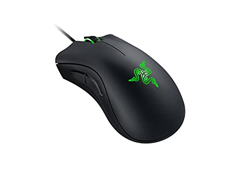 Razer DeathAdder Essential Gaming Mouse: 6400 DPI Optical Sensor - 5 Programmable Buttons - Mechanical Switches - Rubber Side Grips - Classic Black (Renewed)