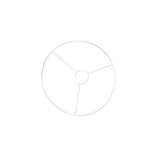 Rayher 2300200 Metallring mit Kreuz, 40 cm ø, weiß beschichtet, Stärke ca. 3 mm, Drahtring zum Basteln von Lampenschirmen, mit Ring für E27 Lampenfassung