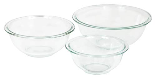 Pyrex 3-piece Glass Mixing Bowls