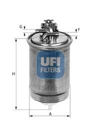UFI Filters 55.427.00 Filtro Gasolio