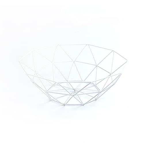 1pc kök korg behållare skål metall tråd korg kök dränering rack frukt grönsakshållare mellanmål bricka (Color : 02)