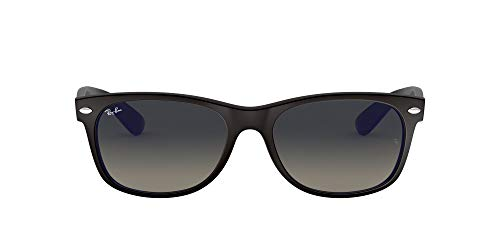 Ray-Ban New Wayfarer, Gafas de Sol Unisex adulto, Negro/Azul (Black and Blue 618371), 55 mm