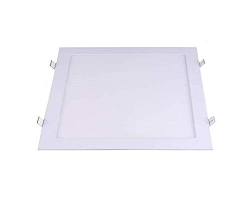 Placa Led Cuadrada 295x295 mm, 24W Panel Super slim Empotrado Luz Fría...