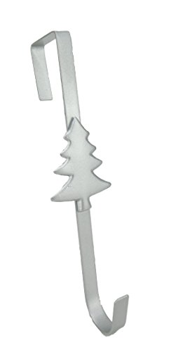 Christmas Concepts Christmas Metal Wreath Hanger - Silver Tree Design - 29cm