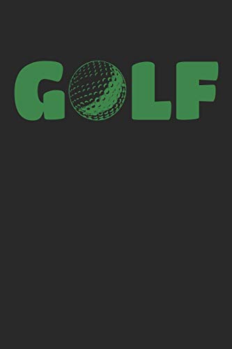 GOLF notebook: GOLF Journal blankbook, 6x9 inch, 108 unlined plain pages, small golfball icon on each page, cover: simply GOLF