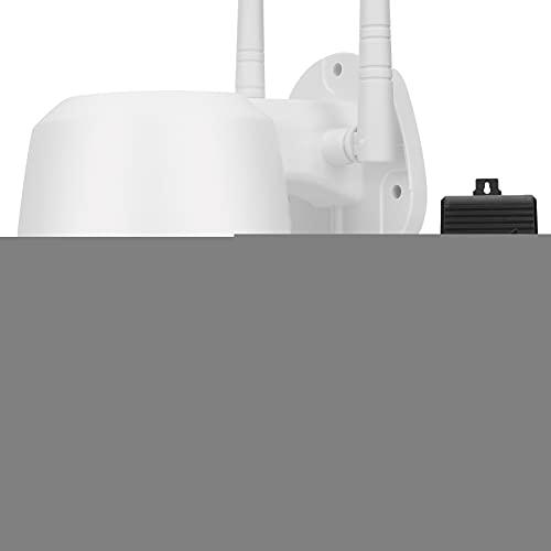 Cámara de seguridad PTZ al aire libre, cámara de reflector cámaras de videovigilancia para sistema de seguridad en el hogar, detección de movimiento, visión nocturna 1080p, resistente al agua (US)