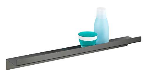 WENKO wandplank Montella - plank om te schroeven, roestvrij, aluminium, antraciet
