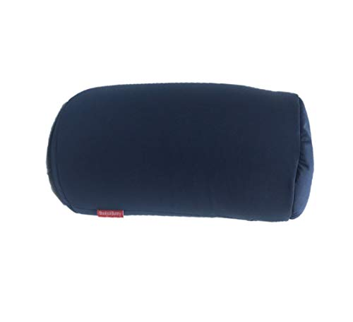 "Bookishbunny Home Office Chair Car Seat Cushion Micro Bead Roll Pillow 7"" x 12"" Head Neck Back Body Comfort (Navy)"