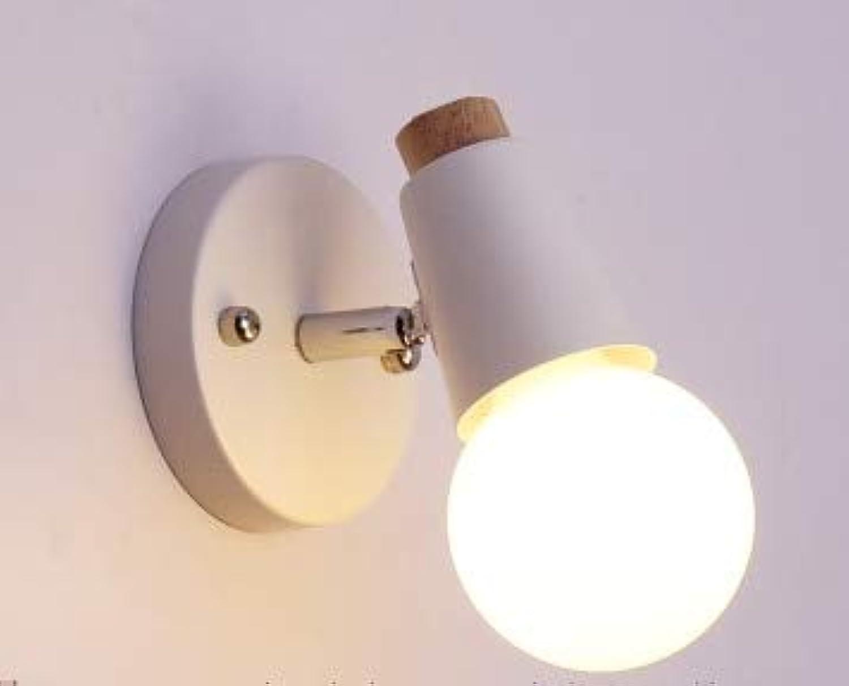 Nordeuropa Deer Eisen E27 Lampenfassung Holz Nachttischlampe Basis Kinderzimmer Dekoration Korridor Wandleuchten, Lila