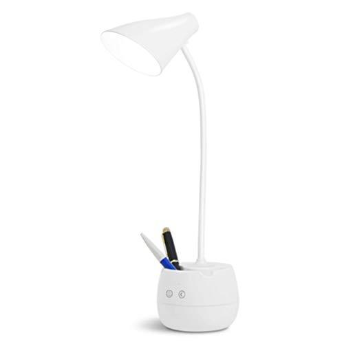 xy Schreibtischlampe Augenschutz Schreibtisch Student wiederaufladbare LED-Schlafsaal Studie Grundschule Gymnasiast Schlafzimmer Bett Stifthalter