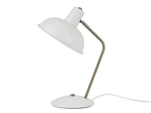 Leitmotiv - tafellamp - bureaulamp - Hood - metaal - mat wit - Ø 19,5 cm