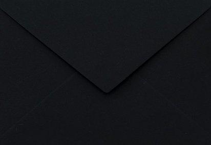 Netuno 25 Schwarz C6 Briefumschläge, 114x162mm, 115g, Sirio Color Nero, Spitzklappe, ohne Fenster, ideal für Hochzeit, Geburtstag, Weihnachten, Einladungen, Briefkarten, Grußkarten