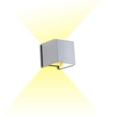 Luces de pared MGWA Lámpara De Pared Blanca Retro De LED Al Aire Libre De La Lámpara De Jardín Iluminación Lámpara De Pared De Aluminio Cubo Al Aire Libre Lámpara De Pared Impermeable Al Aire Libre Co