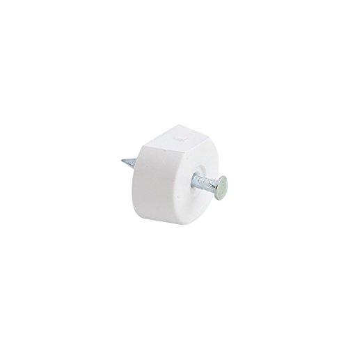 SECOTEC Bodenträger FLAT rund  ø 15 mm | weiß | Plattenträger zum nageln | 60 Stück