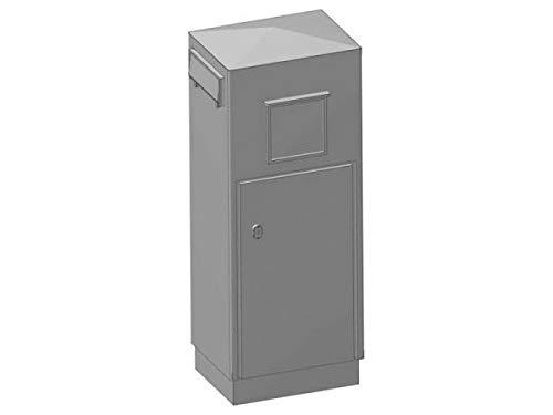 modellbahn-exklusiv Briefkasten Säulenbriefkasten der Deutschen Post, Schlitz Links, Spur 0, 1:45