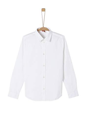 s.Oliver Jungen 62.911.21.8850 Hemd, Weiß (White 0100), 176 (Herstellergröße: XL/SLIM)