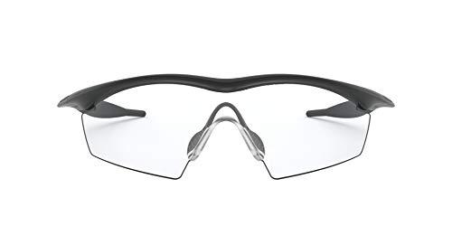Oakley Men's OO9060 M Frame Strike Sunglasses, Black/Clear, 75 mm