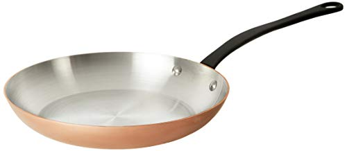 Mauviel 6544.26 M'Heritage M250C 2.5mm Copper Round Frying Pan, 10.2',
