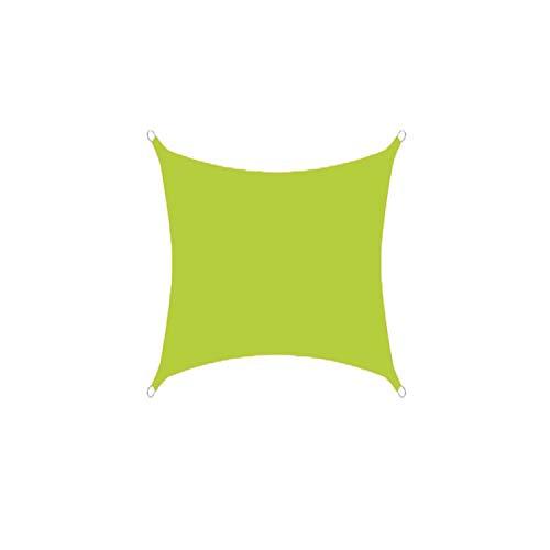 DIANPU Velas De Sombra para Patio, Cuadradas Impermeables Protección Solar Y Protección UV Velas De Sombra para Jardín De Patio Al Aire Libre (3.6m*3.6m,Amarillo Verde)