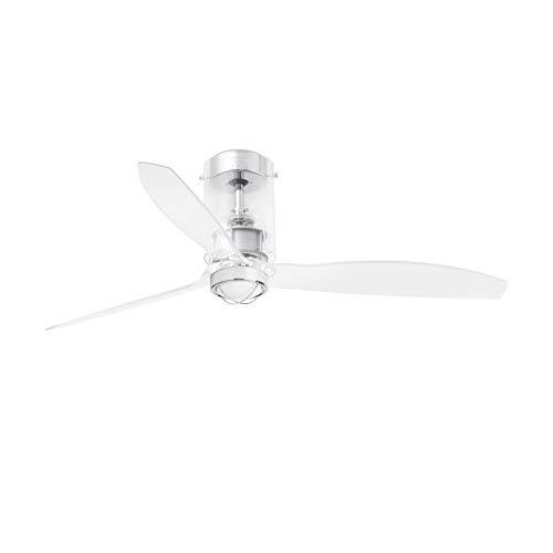 Faro Barcelona 33393WP-9- MINI TUBE FAN LED Ventilador de techo transparente con motor DC SMART (Receptor Smart 34150 no incluido)