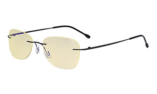Eyekepper blauw licht blokkering computerbril dames met gele filterlens - randloze computer leesbril