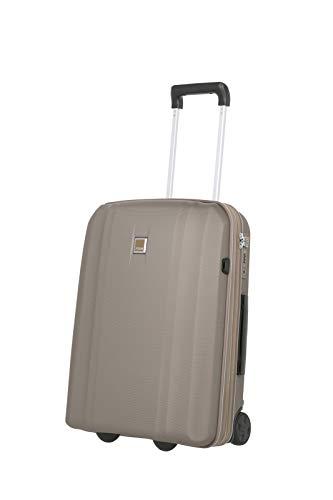 Trolley rigido antigraffio dal design classico champagner Koffer 2-Rad S mit USB-Port (55 cm)