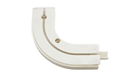 Gardinia Rundbogen GE1 mit Endstück weiß 13,5/13,5 cm, 1 Paar, 13.5/13.5 cm, 2