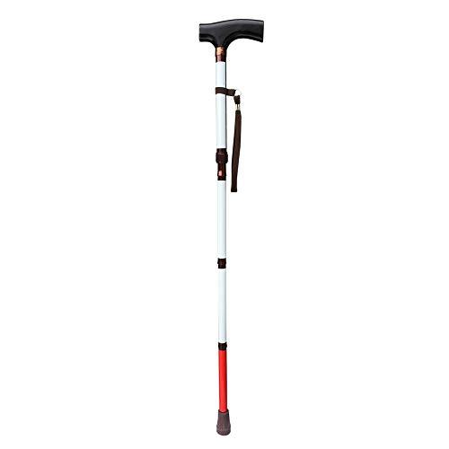 VISIONU Blinden-Gehstock,weiße Stock - Faltbar - 80cm-90cm, 4-teilig