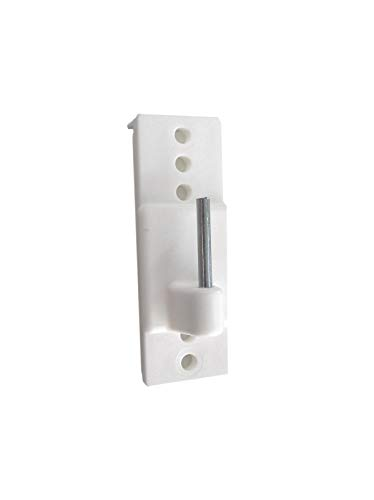 Prodecoshop Scheiben-Gardinenhaken - Gardinenhaken selbstklebend, verstellbar, für Vitragenstangen, weiß, 4 Stück