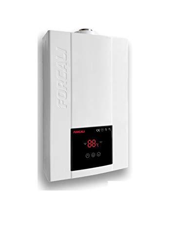 Forcali Calentador de gas natural bajo NOX camara estanca 12 litros