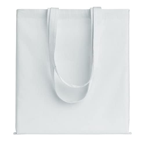 POLHIM® - Bolsa de tela de algodón reutilizable - Bolsa de tela de algodón lavable - Ropa de gimnasia, compras, playa o verduras con asas