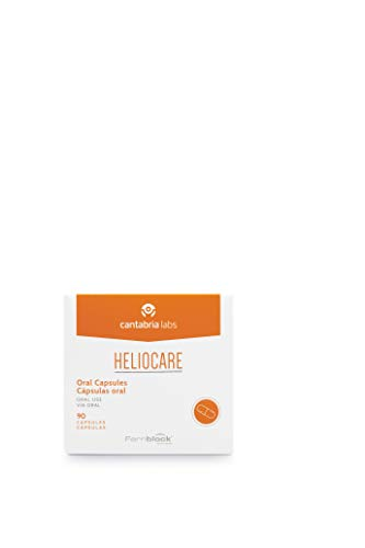Heliocare Oral Cápsulas - Fotoprotección desde el Interior, Aumenta la Resistencia de la Piel al Sol, Acelera un Bronceado Natural y Homogéneo, 90 cápsulas