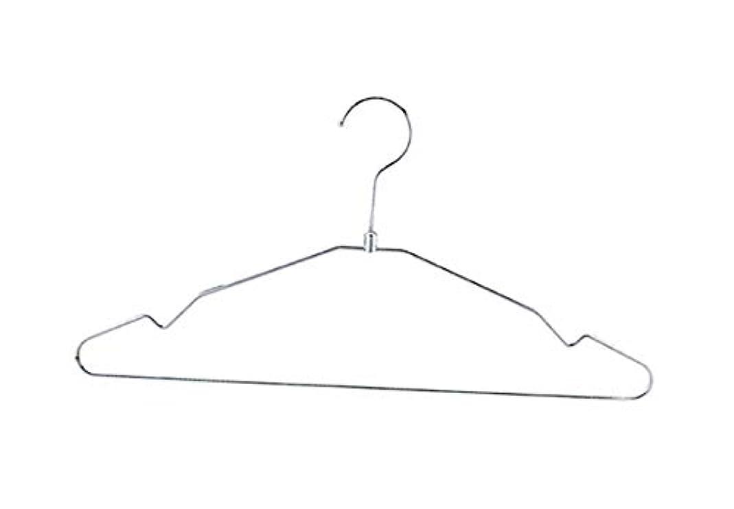 スチールお金ゴム学校の先生アズワン スチール製ハンガー クロームW42cm 100本/61-7229-81
