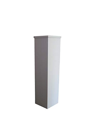 Wolkenstube, Columna decorativa blanca, columna decorativa (81 x 20 x 20 cm, madera)