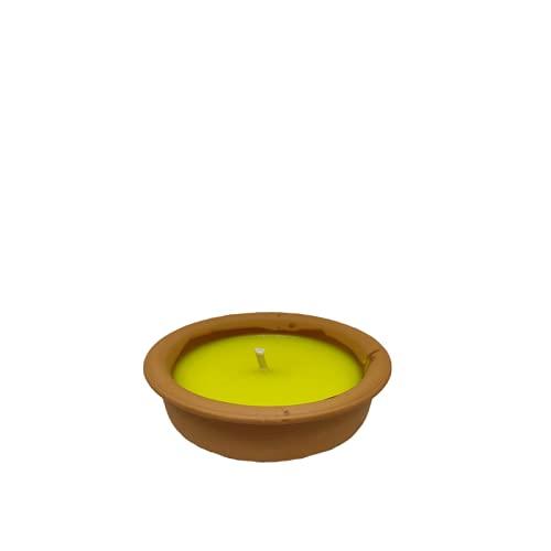 candele profumate 9cm Virsus Candela citronella Candele per Esterno in coccio di Terracotta 9 cm Set da 10 Pezzi Giardinaggio antizanzare Feste ed Eventi